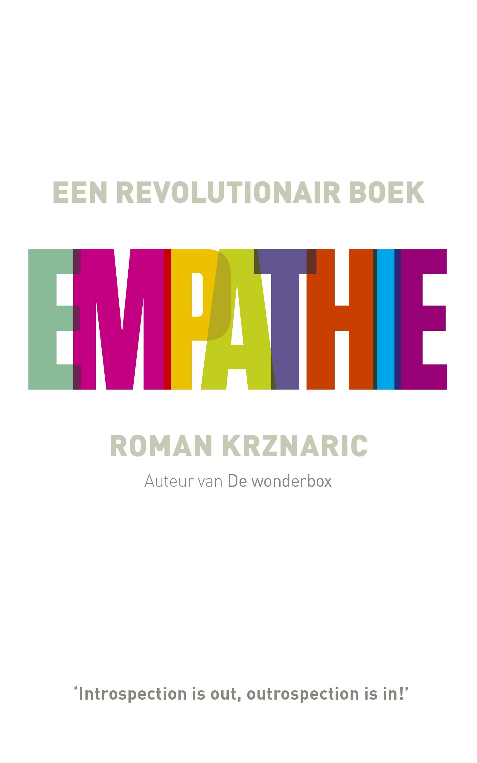 omslag Empathie van Roman Krznaric