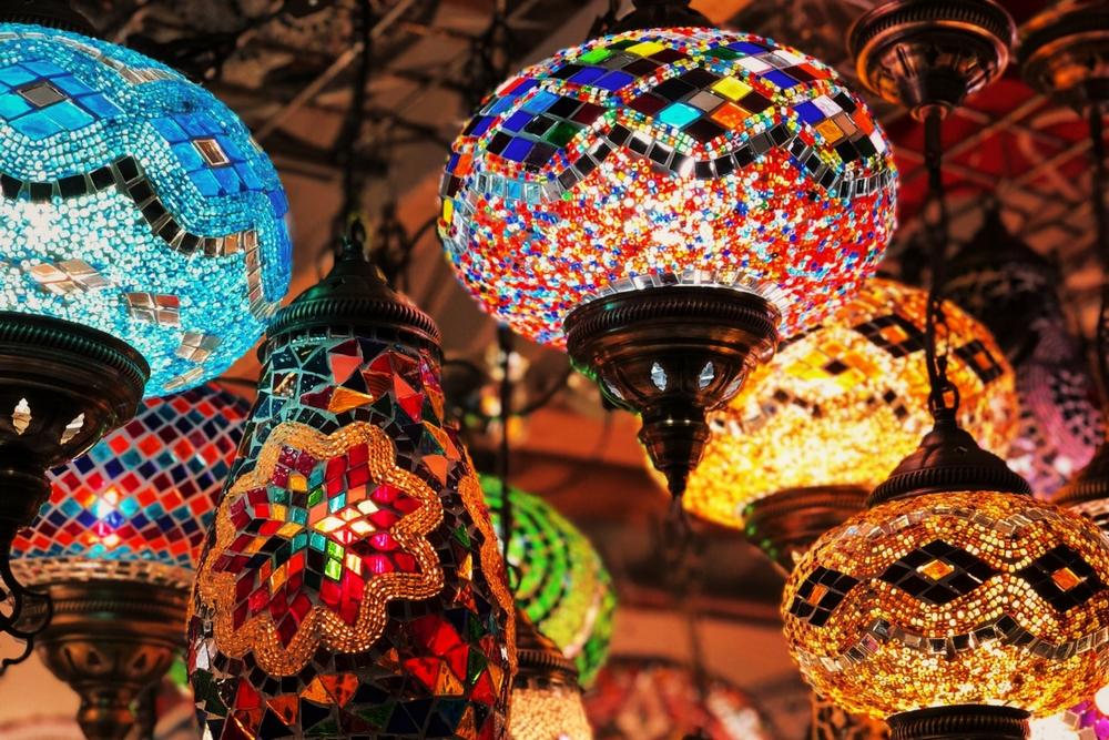 kleurige lampen